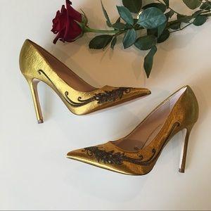 Zara satin pump heels
